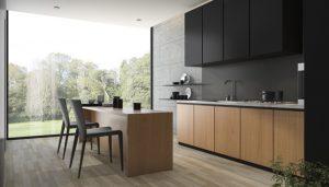 matte black kitchen california